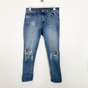 Express Destroyed Girlfriend High Rise Jeans #2812